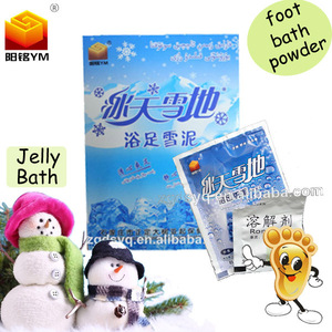 China hot sale jelly bath powder,bath foot snow mud foot care products