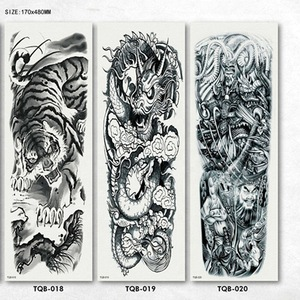 Cool Devil Waterproof Removable Temporary Tattoo Sticker Large Full Arm Tattoo Sticker For Men