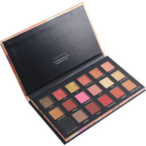 High Quality 18 Colors Private Label Makeup Palette Eyeshadow Custom Logo Cardboard Mix Shimmer Cosmetic Eye Shadow
