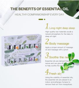 High Quality Essential Oil Set Aromatherapy 14 *10ml Pure Tea Tree, Lavender, Eucalyptus,Peppermint Essential Oil Gift Set