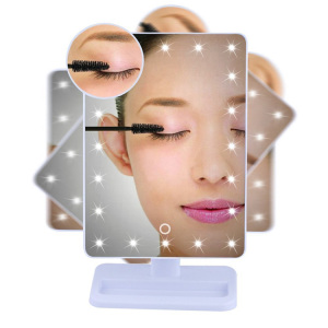 Include AA Batteries Touch Screen 20 LED Lighted Makeup Vanity Mirrors with Removable 10x Magnify
