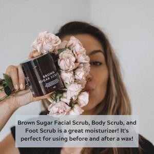 Wholesale OEM/ODM Brown Sugar Scrub Exfoliating Body Scrub Smooth Skin 100% Pure Moisturizing Skin Organic black sugar scrub