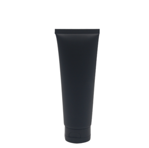 100Ml Soft Squeeze Black Plastic Cosmetic Tube With Black Flip Cap