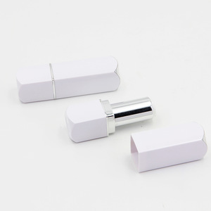 Aluminum Hot Stamping White Lipstick Tube