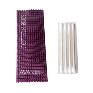 Disposable double-end wooden cotton swabs bamboo ear cleaning stick cotton buds