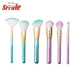 Eye Shadow Glitter Beauty Vegan Cosmetic Tool Soft Synthetic Hair Mini Makeup Brush Kit