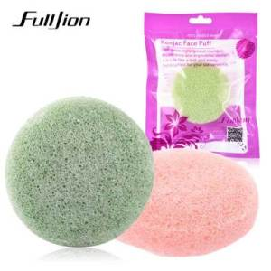 Fulljion konjac facial puff bamboo charcoal  gentle exfoliating oil-control konjac cleansing sponge cleansing ball