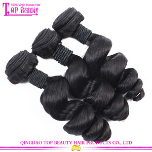 Machine make the weft can perm can dye 100% virgin human hair loose wave malaysian hair bundles
