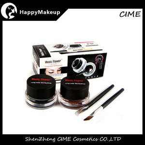 Music flower eye liner gel Black and Brown best waterproof eyeliner