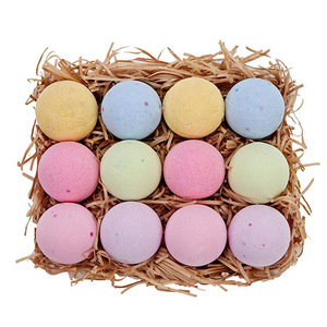 New Product Cheap Custom Private Label Mini Colorful Supplies Salt Relaxing Baby Kids Natural Organic Bath Bombs