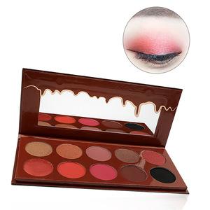 Private Label Cosmetic Makeup 10 Color Eyeshadow Palette OEM/ ODM Shimmer Matte Eyeshadow