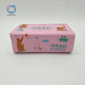 Professional design white color 100% virgin pulp soft pack facial tissue paper