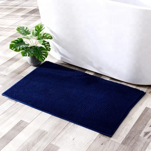 Wholesale Factory Supply 100% Microfiber Super Soft Chenille Bath Mat