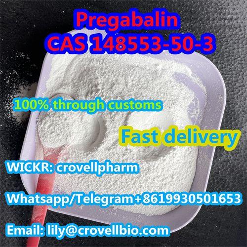 Pregabalin supplier with cas 148553-50-3 Pregabalin from china factory (whatsapp +8619930501653
