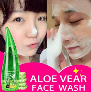 120g Aloe Vera Gel Pore Terminator Cleansing Foam Facial Cleanser Remove Facial Cleanser Blackhead Moisturizer Cream
