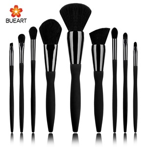 BUEART Eyes and face powder concealer fan beauty crystal diamond brush sets black color brush design glitter makeup brush