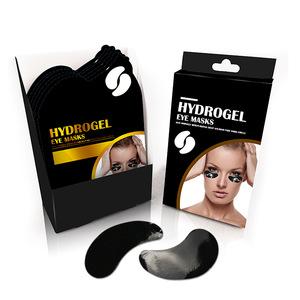 GMP Bamboo Charcoal Fade Dark Circle Anti Wrinkle Eye Gel Patch OEM Under Eye Pads Collagen Eye Mask