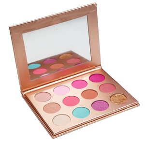 lady cosmetic eye shadow Wholesale  No MOQ No Logo eyeshadow cardboard rainbow palette high pigment eyeshadow