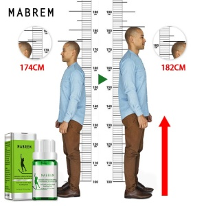 MABREM Height Increase Oil Conditioning Body Grow Taller Herbal Essential Oils Soothing Foot Promote Bone Growth Massage Oil