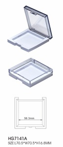 Make up container clear cap square shape compact powder case