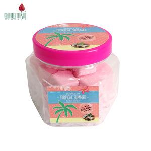 OEM private label PET jar packing natural body clean bubble bath powder