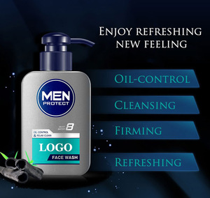 Private Label Man Cosmetic Bamboo Charcoal Oil Control Deep Cleansing Facial Cleanser for Men