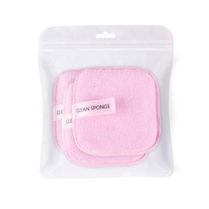 Private Label Reusable Softness Microfiber Face Cleansing Makeup Powder Remover Wipes Makeup Remover Pads