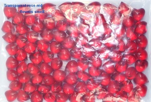 Wholesale 4.9g Flowers fragrance Transparent Red heart bath oil bath oil pearls bath oil beads 100pcs/lot
