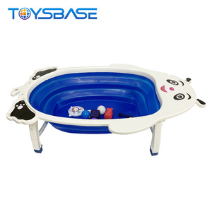 Wholesale Baby Bathing Products Supplies Bathroom Shower Set Foldable Bathtub Plastic Baby Bath Tub