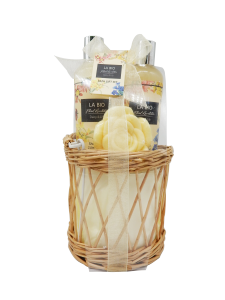 Wholesale Garden label moisturize body care spa paper basekt bath and body gift set