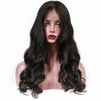 Loose Wave full Lace Human Hair Wigs For Women Natural Black Remy Brazilian Human Hair Wigs Baby Hair Full End