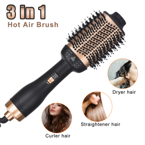 110v and 220v Hair Dryer Rotating Brush Salon Hair Straightener Comb Hot Air Brush Hair Dryer