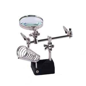 5x, 65mm diameter help hand magnifier lamp