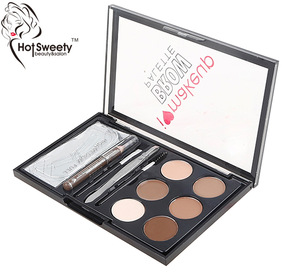 6color clear cover waterproof longalsting eyebrow powder palette kit do custom brand eyebrow makeup
