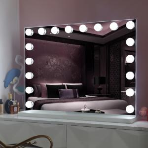 Fashion beauty large size makeup mirror 100x80 cm vanity mirror hollywood with lights