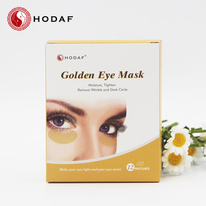 High quality direct supply sleeping crystal collagen eye mask and golden eye patch