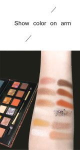 New arrival 12-color long lasting glitter eyeshadow palette high pigment eyeshadow oem