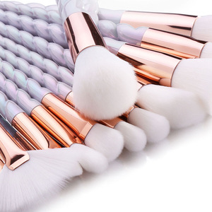 Private Label 10 Pcs Cosmetics Mascara Glitter Makeup Brush Set
