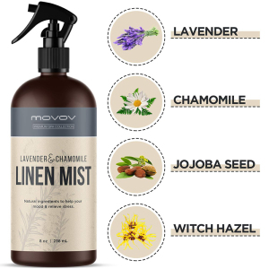 Private label OEM Natural Lavender Linen and Room Fabric Spray Chamomile rosemary mint rose essential machine purifier palm oil