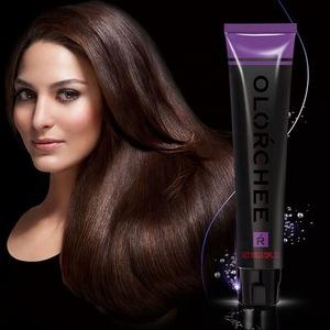 Salon professional permanent non allergic hair dye, 100% gray coverage hair dye