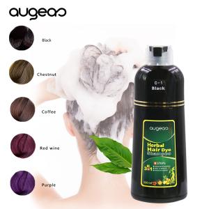 Thailand hotsale instant dye shampoo OEM  brands manufacturer ammonia free ginseng fast black best hair dye shampoo