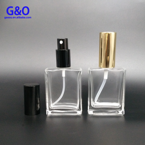Wholesale 60ml 100 ml clear square Glass fregrence oil french Bottles,Perfume Bottles with Pump Spray for eliquid or ecig