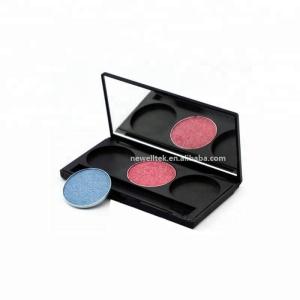 Wholesale Empty 3 Color Makeup Eyeshadow Palette Case Private Label Eyeshadow Compact Palette Packaging Container