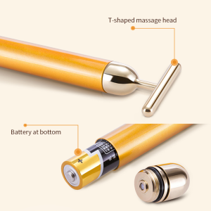 Wholesale facial slimming face gold vibration 24k facial massager beauty bar