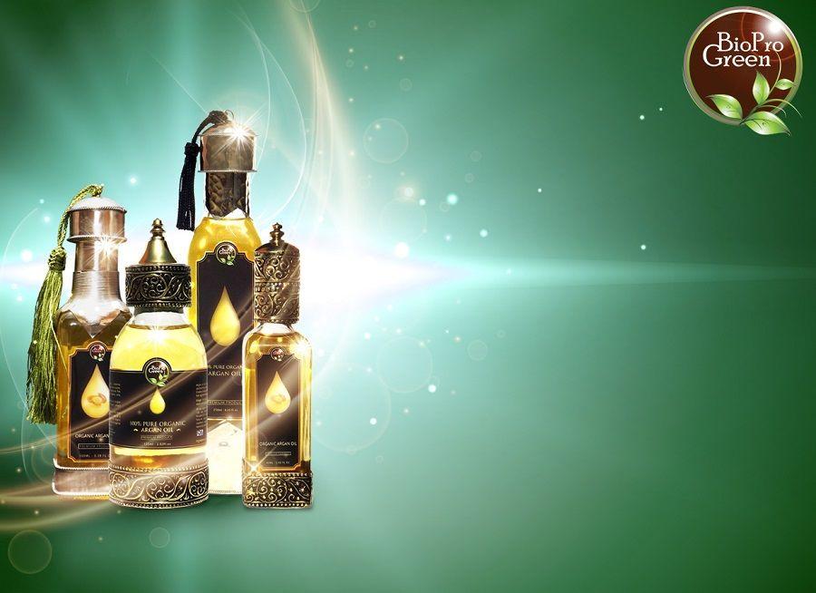 100% Bio certified Organic Argan oil in glass bottle with dropper :