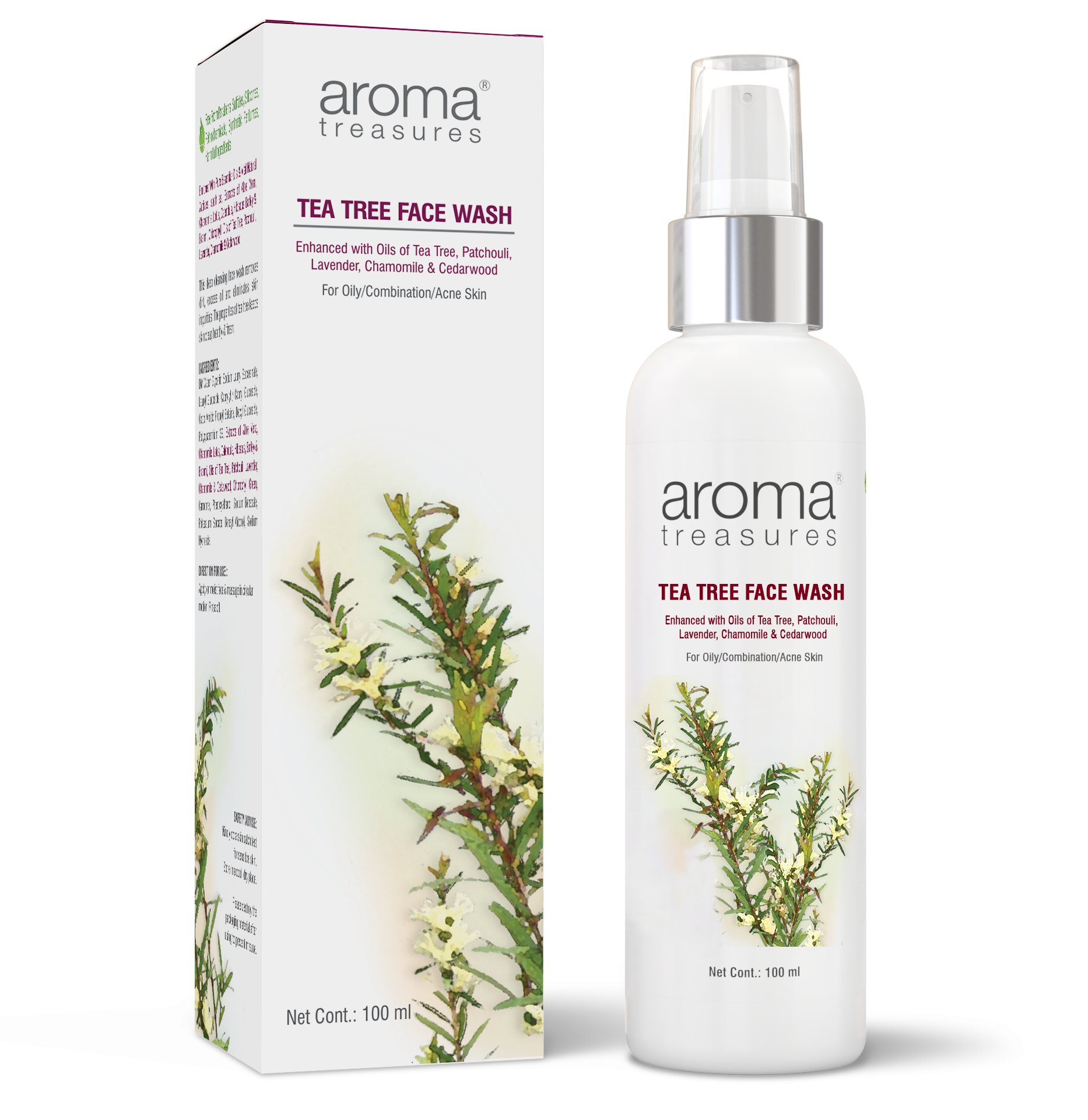 Aroma Treasures Tea Tree face wash ( 100 ml )