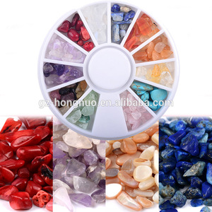 3D Irregular Nail Stone Decorations Natural Crystal Agate Stones Nails Art Design ND026