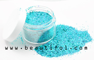 4 colors shimmering body glitter, OEM cosmetics wholesale flash powder