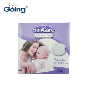 Disposable breast pad with adhesive tape and spandex ultra thin soft nursing pad breastfeeding pad