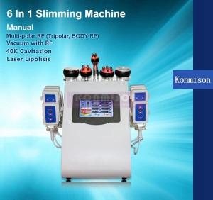 Hot 6 in 1 RF Machine 40 Khz Cavitation Machine Vacuum Slimming machine